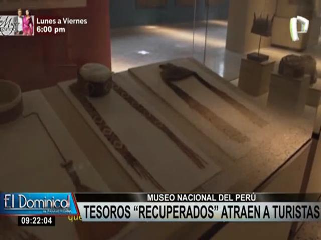 Tesoros recuperados impactan en el Museo Nacional de Arqueología