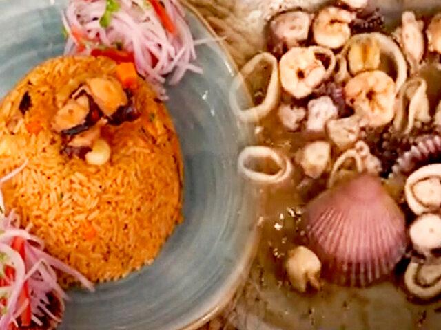 D'Mañana inicia la semana preparando un exquisito arroz con mariscos