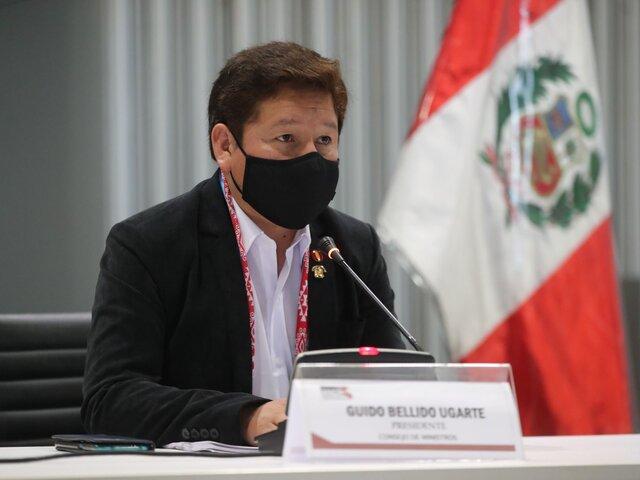 Guido Bellido señaló que Consejo de Ministros no abordó tema Abimael Guzmán