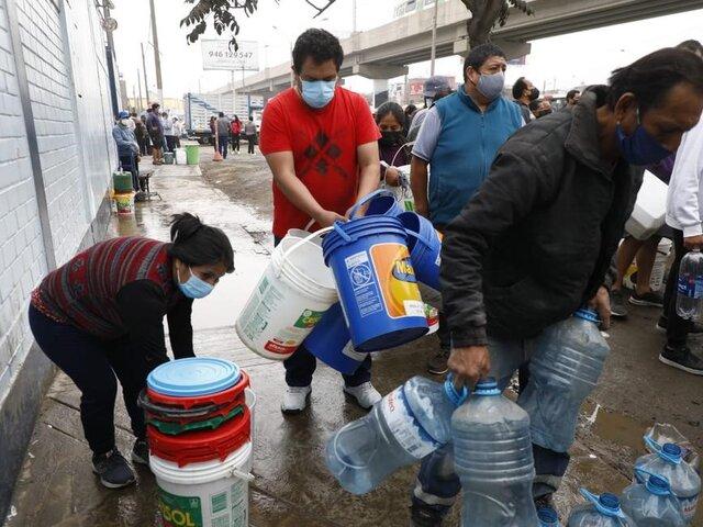 Sedapal: restablecimiento del agua en SJL será en forma gradual