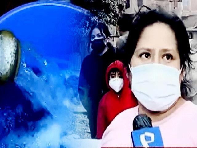 SJL: vecinos denuncian que agua volvió con baja presión