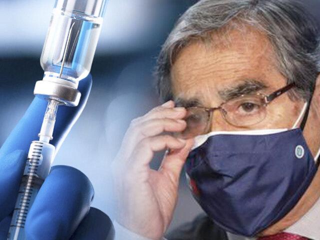 """Óscar Ugarte: """"Se necesitarían más vacunas de las ya recibidas"""""""