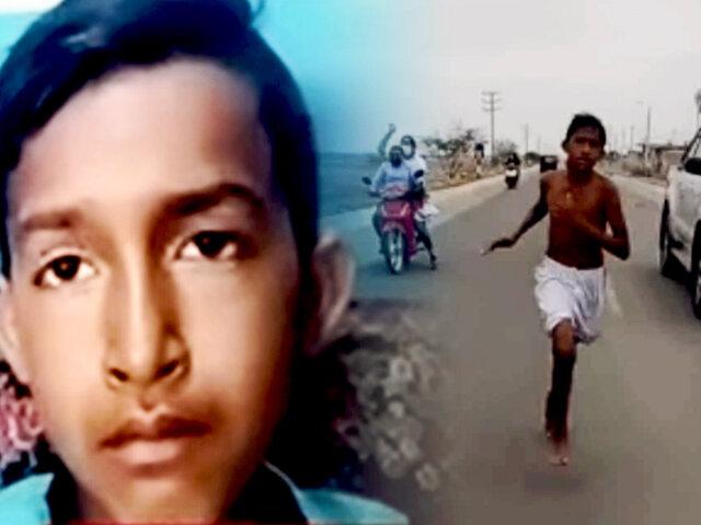Adolescente que ganó carrera descalzo en Tumbes, sueña con ser atleta profesional