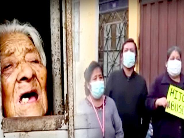 Hijastro encierra a anciana sin alimentos en Carabayllo
