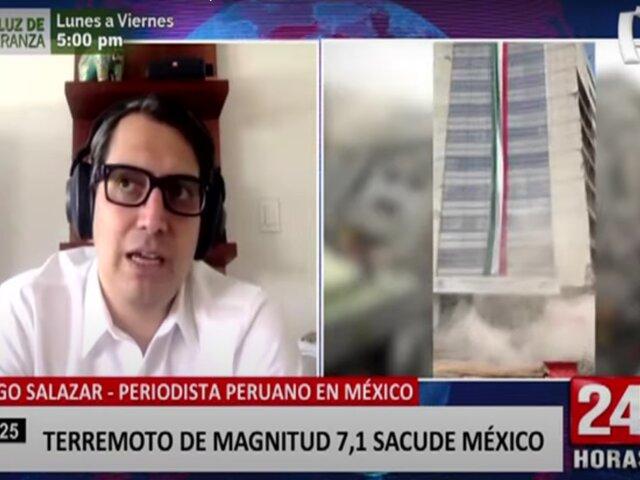 Peruano narra cómo se sintió el sismo de magnitud 7,1 en México