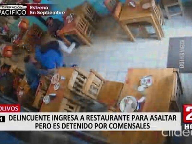 Los Olivos: capturan a delincuente que intentó asaltar a empresario en un restaurante