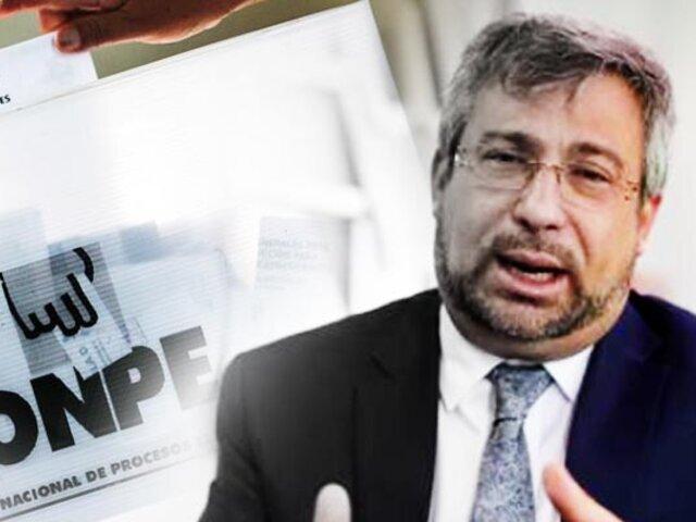 """Jefe de ONPE: """"Hicimos unas elecciones limpias"""""""