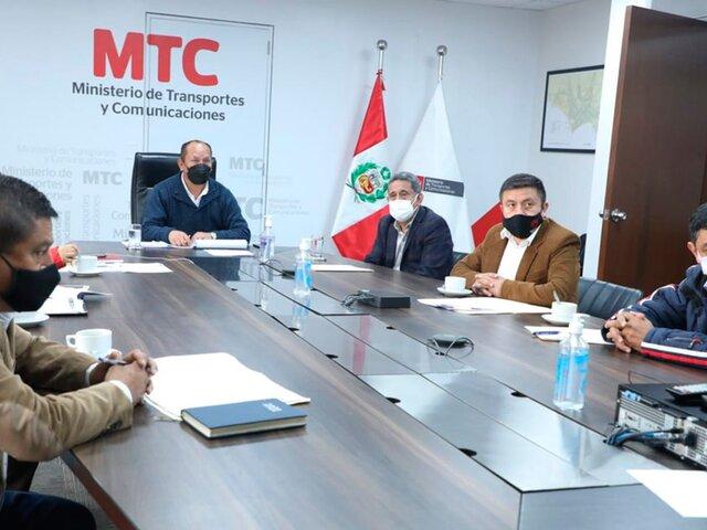 Cajamarca: MTC se compromete a hacer realidad la carretera Contumazá-Cascas
