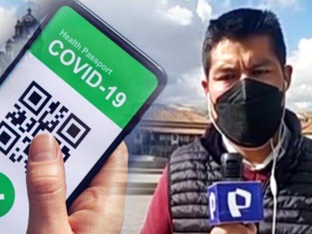 Cusco: proponen pasaporte COVID y beneficios para vacunados con las dos dosis