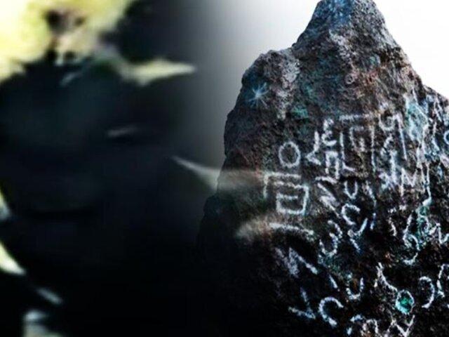Encuentran supuesto meteorito con extraño mensaje