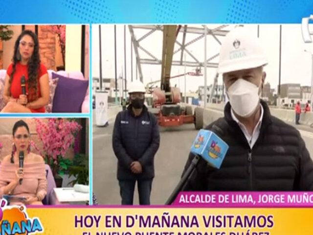D´Mañana: Alcalde Muñoz supervisa construcción de nuevo puente Morales Duárez