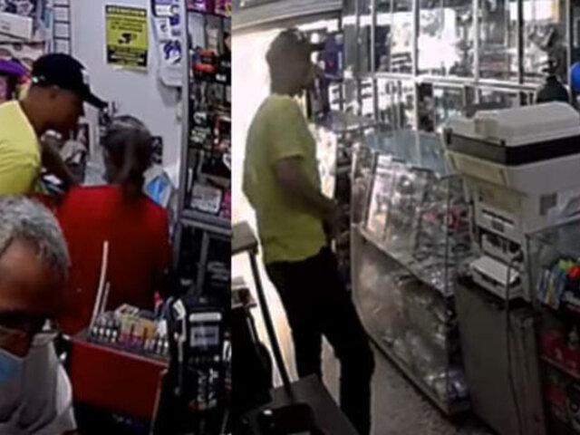 Lo reconoció cuando asaltaba bodega: ladrón es entregado a la Policía por su propia hermana