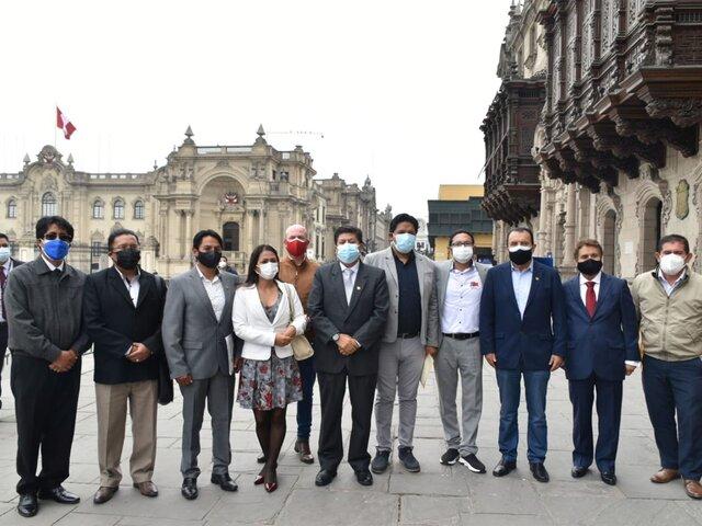 Autoridades de Junín se reunieron con el presidente Pedro Castillo