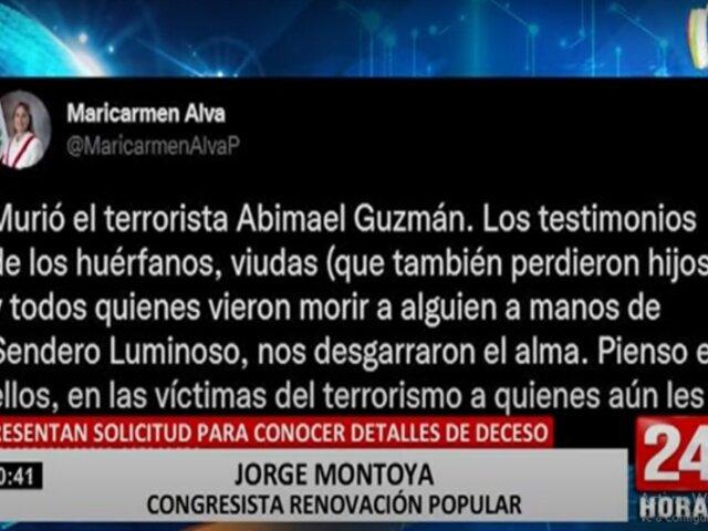 Congresistas se pronuncian  tras la muerte de Abimael Guzmán