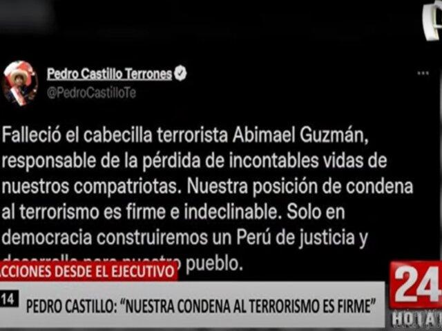 Reacciones desde el ejecutivo tras la muerte de Abimael Guzmán
