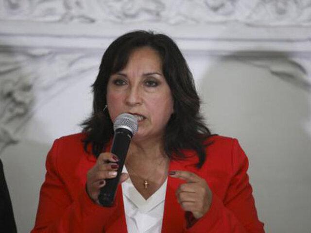 Dina Boluarte se pronunció sobre voto de confianza y demanda de inconstitucionalidad presentada por el Ejecutivo