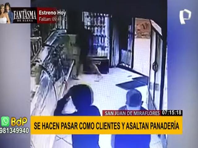 SJM: delincuentes se hicieron pasar como clientes y asaltaron panadería