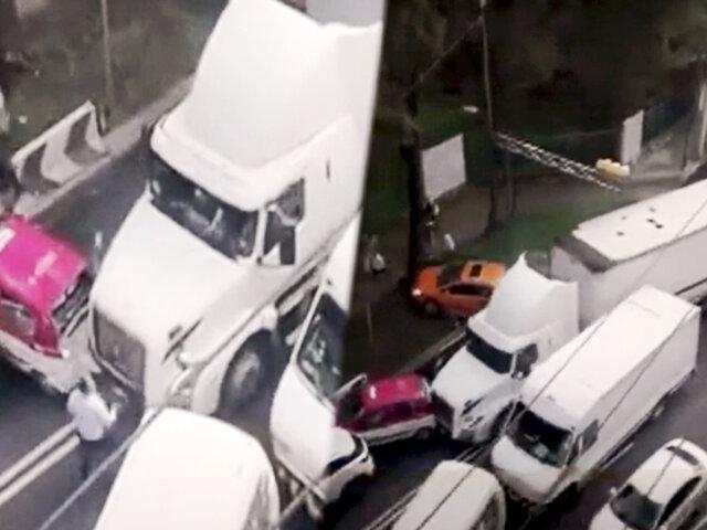 México: conductor de tráiler en estado de ebriedad genera caos y destrozos