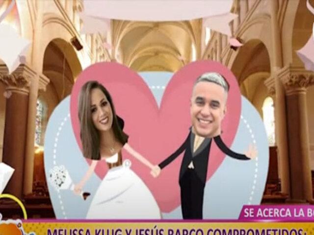 Picantitas del Espectáculo: Melissa Klug y Jesús Barco, parejita muy pronto en el altar