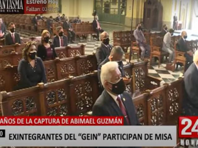 GEIN participó en misa por los 29 años de la captura del hoy fallecido terrorista Abimael Guzmán