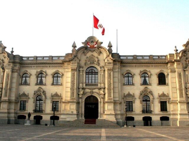 Presidencia: imagen del Pabellón Nacional a media asta en Palacio de Gobierno es falsa