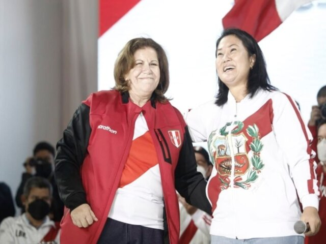 Keiko Fujimori anuncia que Lourdes Flores no será candidata a la alcaldía de Lima
