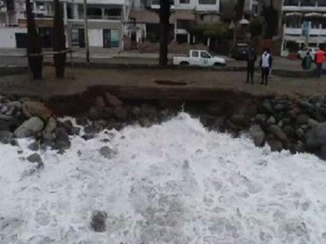 FOTOS: fuertes oleajes ocasionaron serios daños en la infraestructura del malecón de Huanchaco