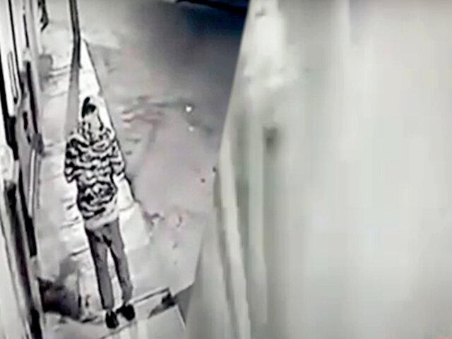 Huacho: captan a delincuente colocando bomba casera en vivienda de empresario