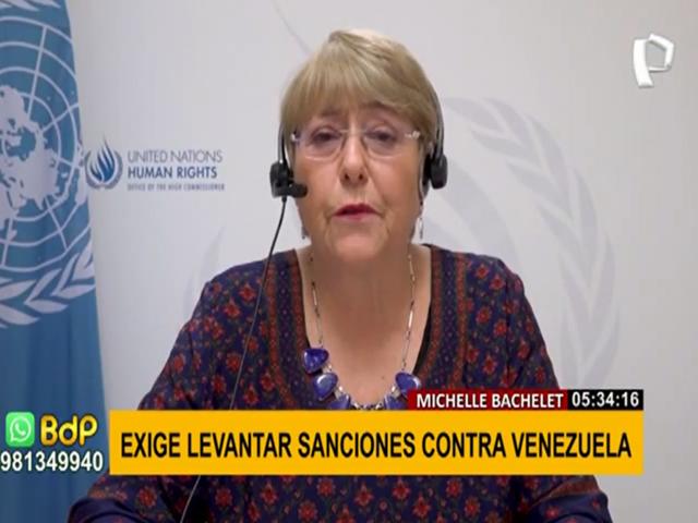 Michelle Bachelet exige levantar sanciones contra Venezuela