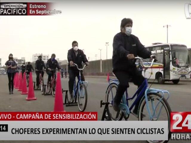 ATU realiza campaña para concientizar a choferes sobre el uso de bicicletas