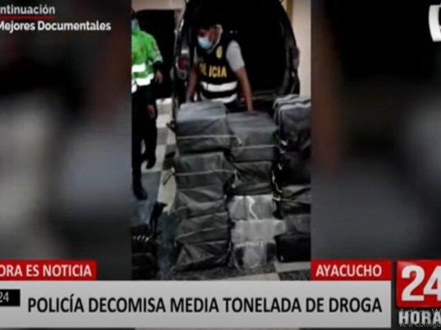 Ayacucho: policía decomisa media tonelada de droga