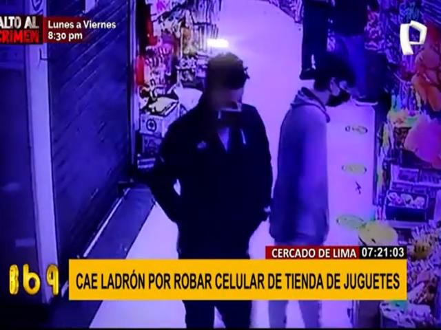 Cercado de Lima: cae ladrón que robó celulares de tienda de juguetes
