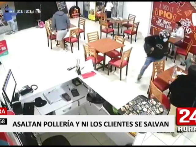 Piura: captan a banda delincuencial en pleno asalto a pollería