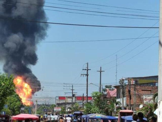 Ucayali suspende vacunación por incendio en planta envasadora de gas