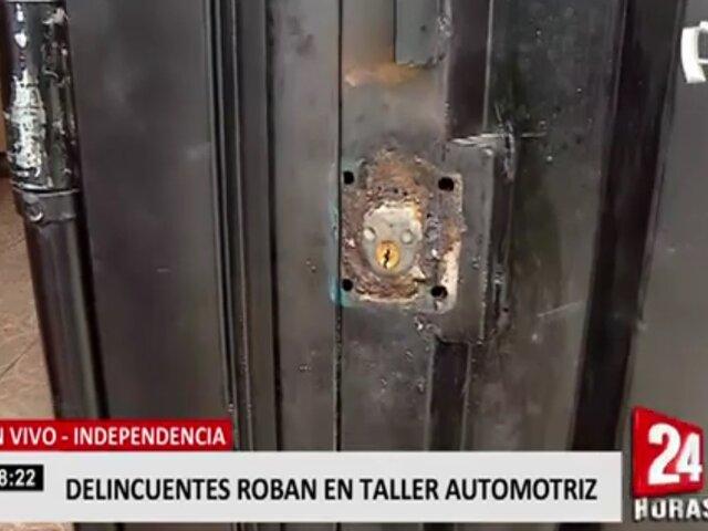 Independencia: roban S/60 000 en productos de tienda automotriz