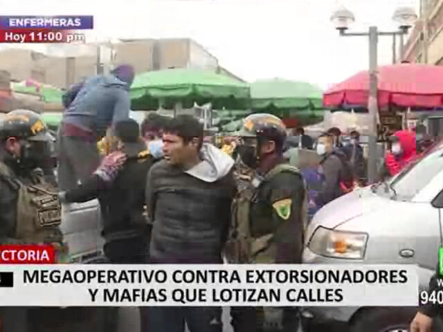 La Victoria: detienen a seis delincuentes durante operativo sorpresa en La Parada