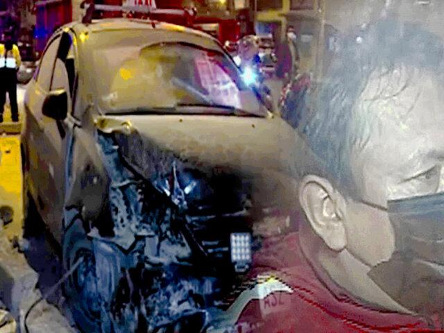 Taxista choca al quedarse dormido e intenta darse a la fuga en SJM