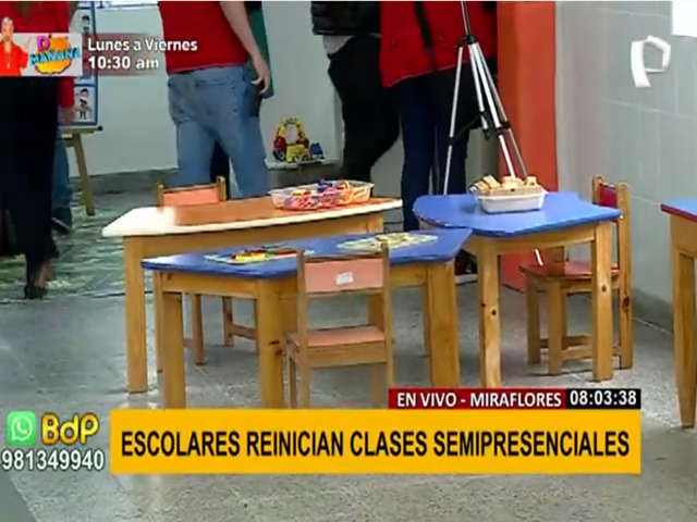 Miraflores: escolares inician clases semipresenciales