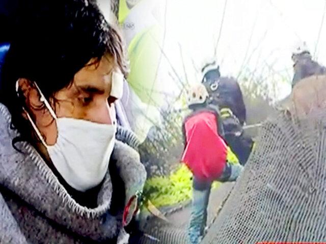 Miraflores: rescatan a hombre que cayó por acantilado de la Costa Verde