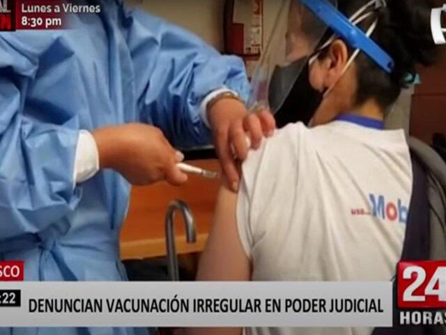 Cusco: denuncian que hijos de trabajadores del PJ se vacunaron irregularmente
