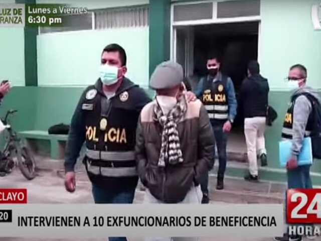 Chiclayo: intervienen a 10 exfuncionarios de beneficencia por compra irregular