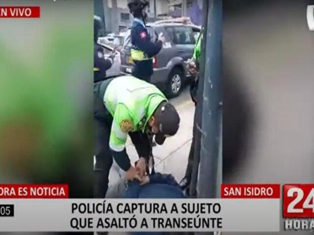 San Isidro: capturan a sujeto que asaltó a mujer