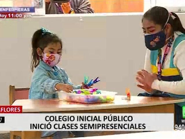 Miraflores: colegio de inicial recibió a 8 alumnos en su primer día de clases semipresenciales