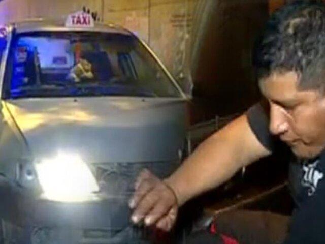 Taxista ebrio estuvo a punto de provocar tragedia en Surco