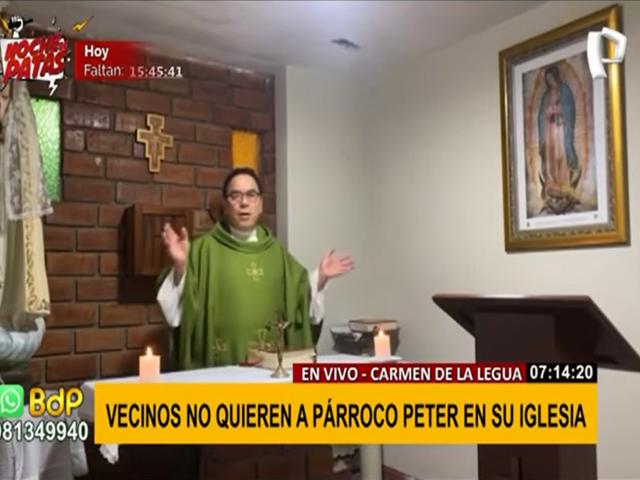 La Perla: vecinos no quieren más a párroco de su iglesia