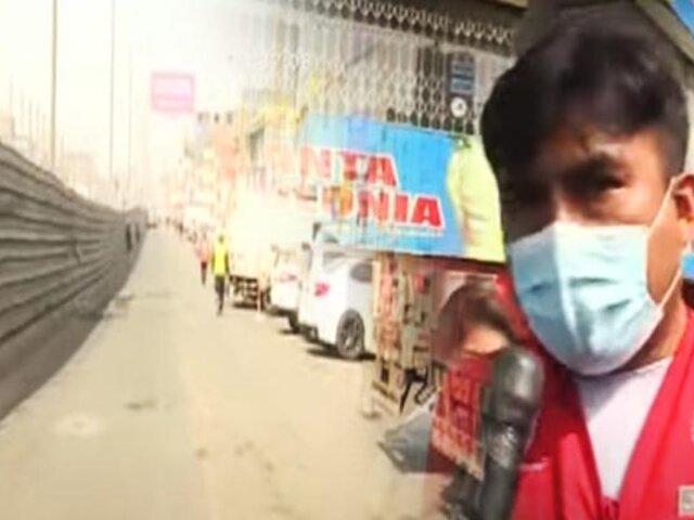 Vecinos de Ate piden abrir vías por obras del Metro de Lima