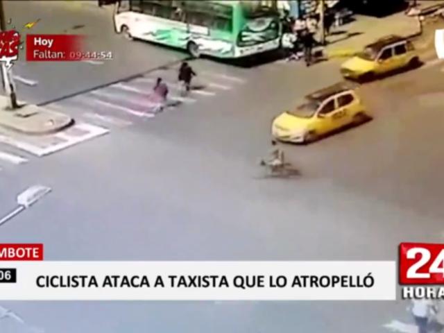 Chimbote: ciclista fue atropellado tras pasarse luz roja