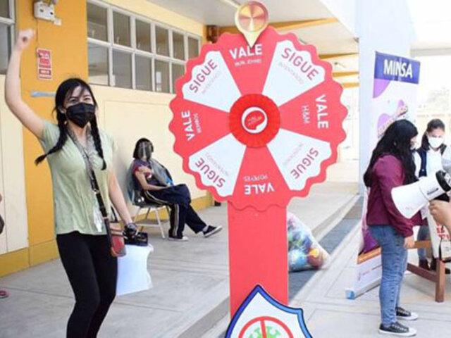 Lambayeque: jóvenes mayores de 20 años acuden masivamente a centros de vacunación