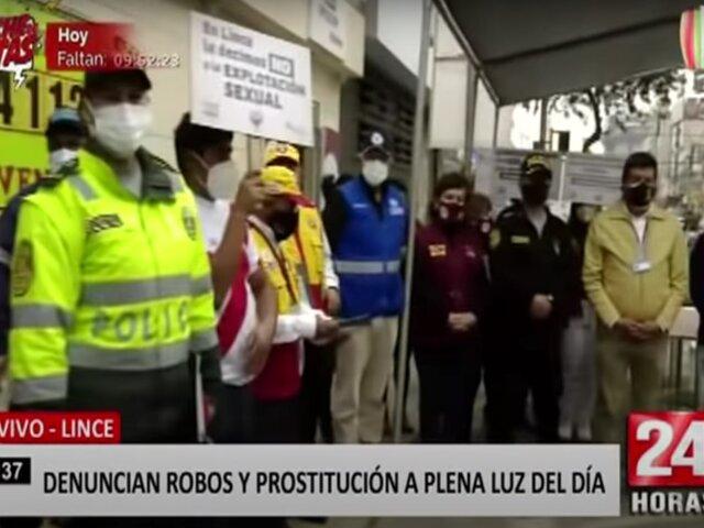 Lince: meretrices invaden las calles con prostitución a plena luz del día