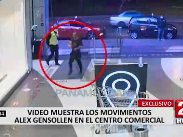 Nuevas imágenes evidencian comportamiento de Alex Gensollen en el centro comercial